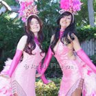 Pretty in Pink Showgirls Stiltwalkers