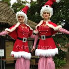 Santas Little Helpers Duo Stiltwalker