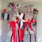Venetian Harlequin Mask Duo Stiltwalker